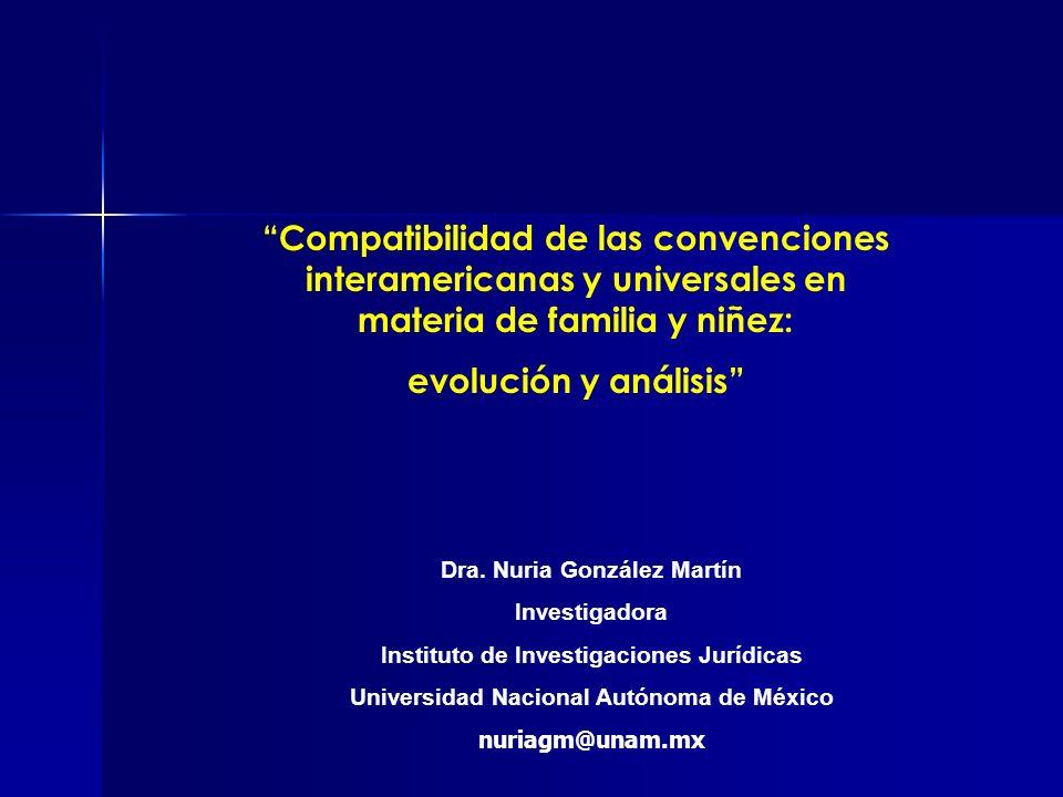 Compatibilidad de las convenciones interamericanas y universales en materia de familia y niñez: