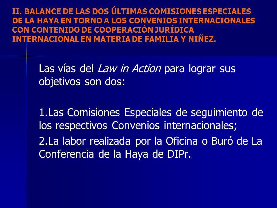 Las vías del Law in Action para lograr sus objetivos son dos: