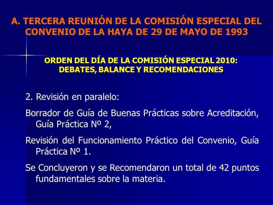 Revisión del Funcionamiento Práctico del Convenio, Guía Práctica Nº 1.