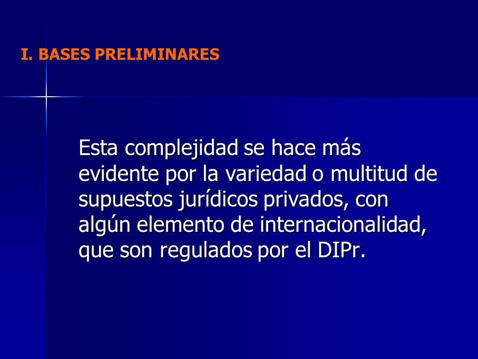 I. BASES PRELIMINARES