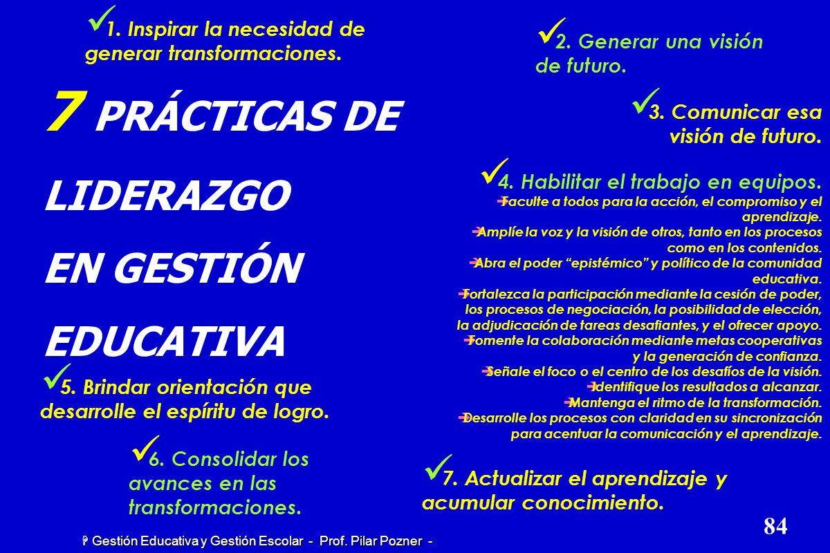7 PRÁCTICAS DE LIDERAZGO EN GESTIÓN EDUCATIVA