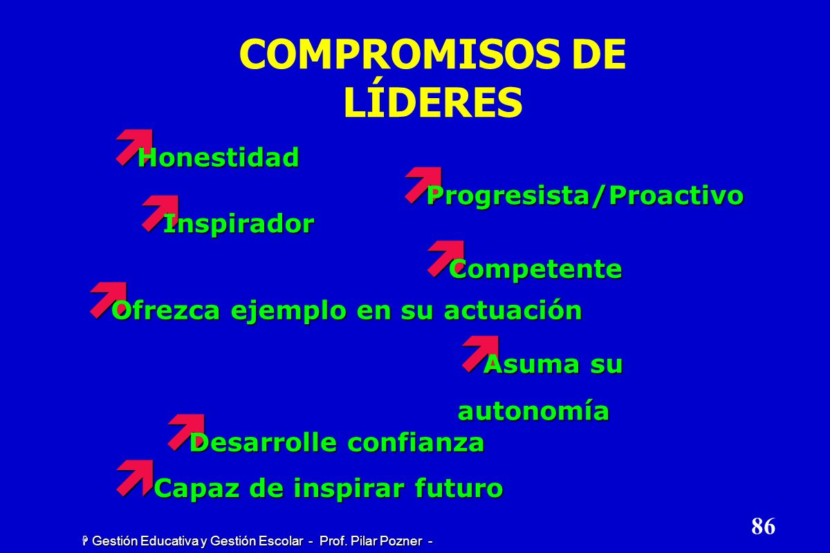 COMPROMISOS DE LÍDERES