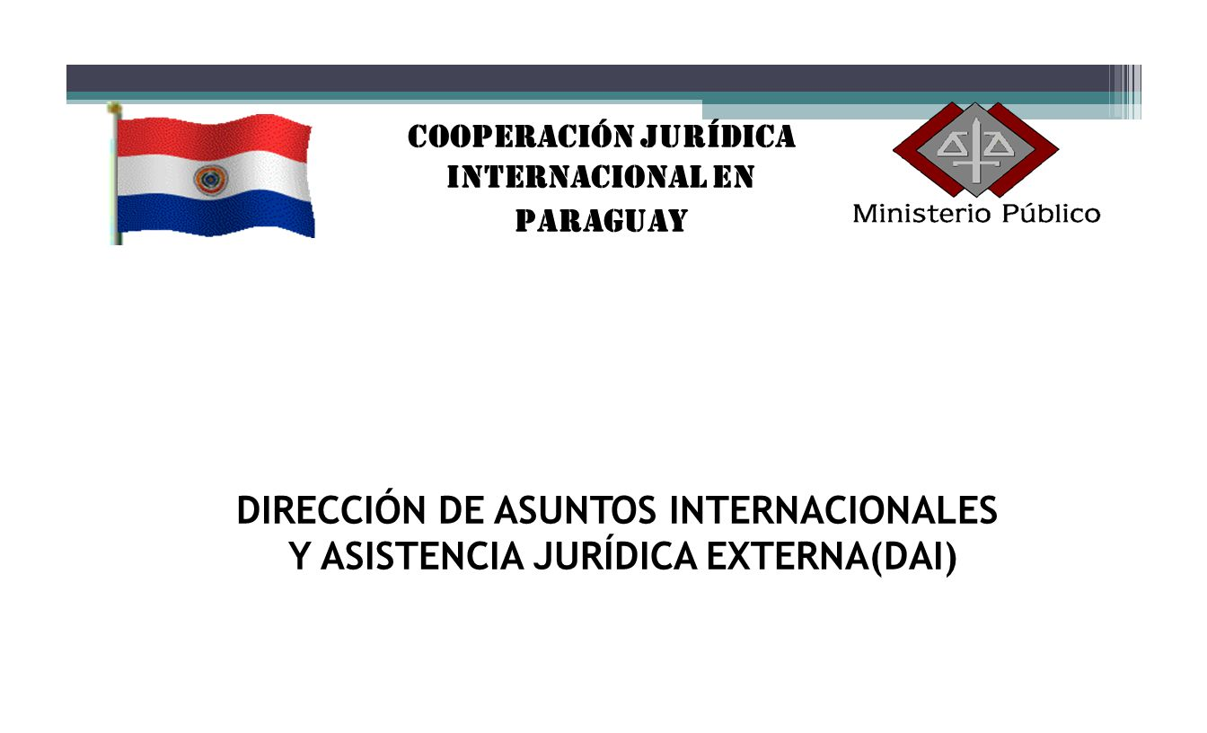 Cooperación Jurídica Internacional en