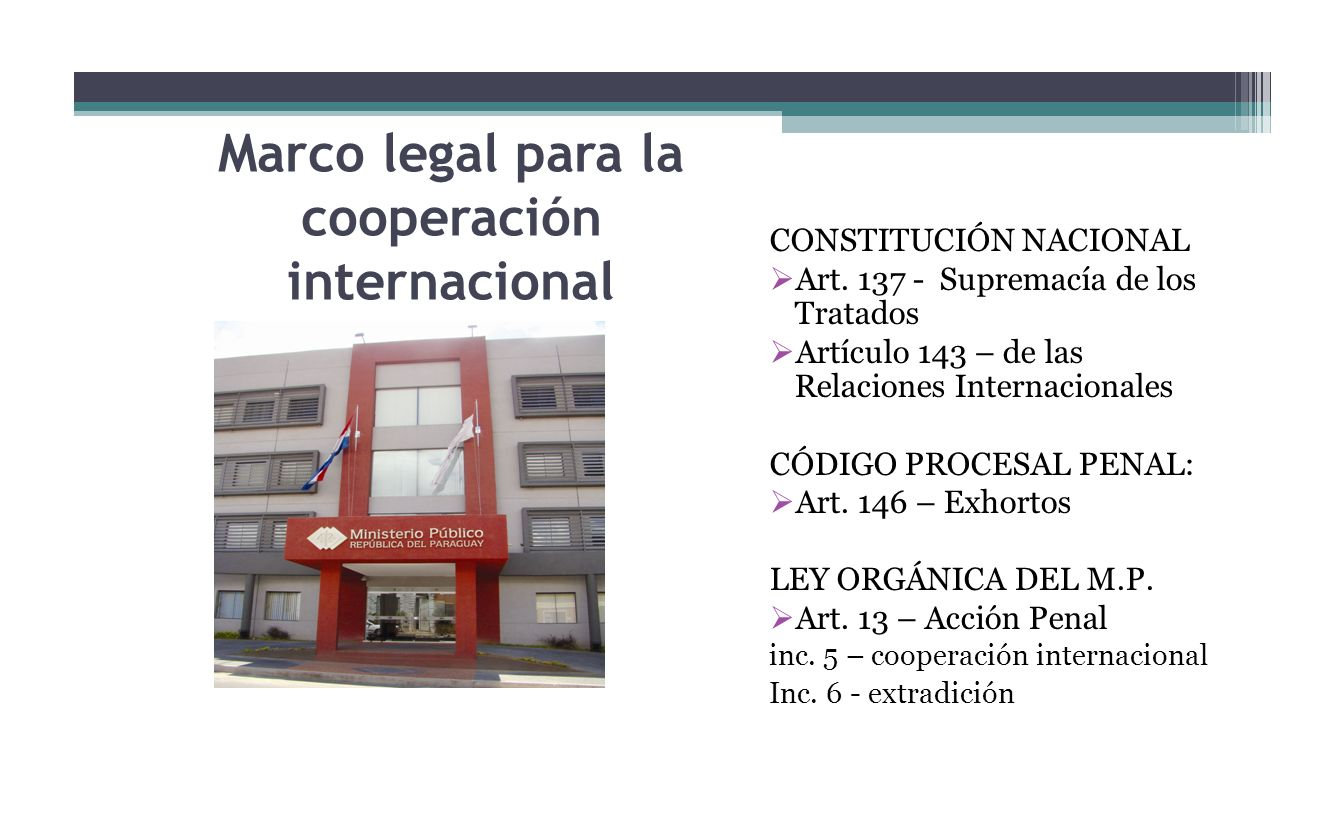 Marco legal para la cooperación internacional