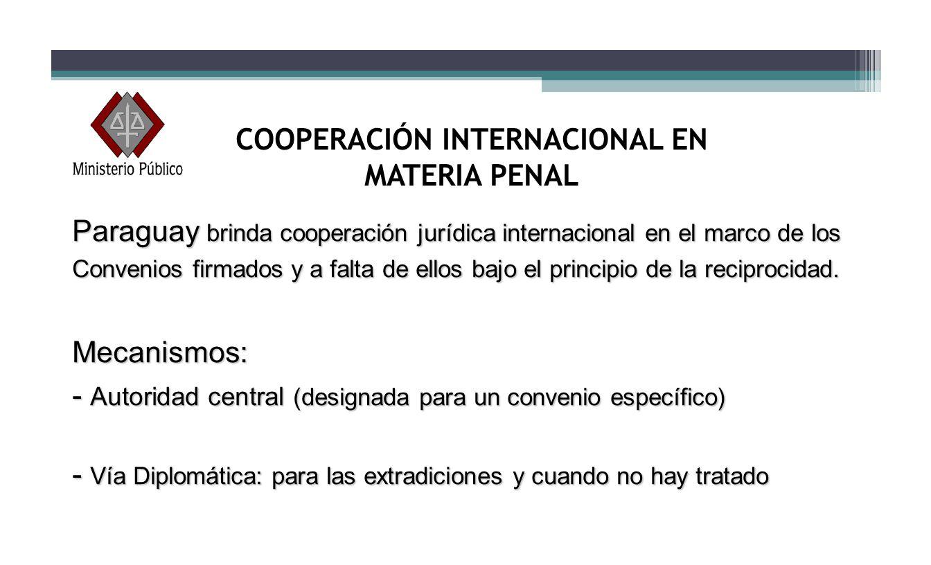 COOPERACIÓN INTERNACIONAL EN MATERIA PENAL