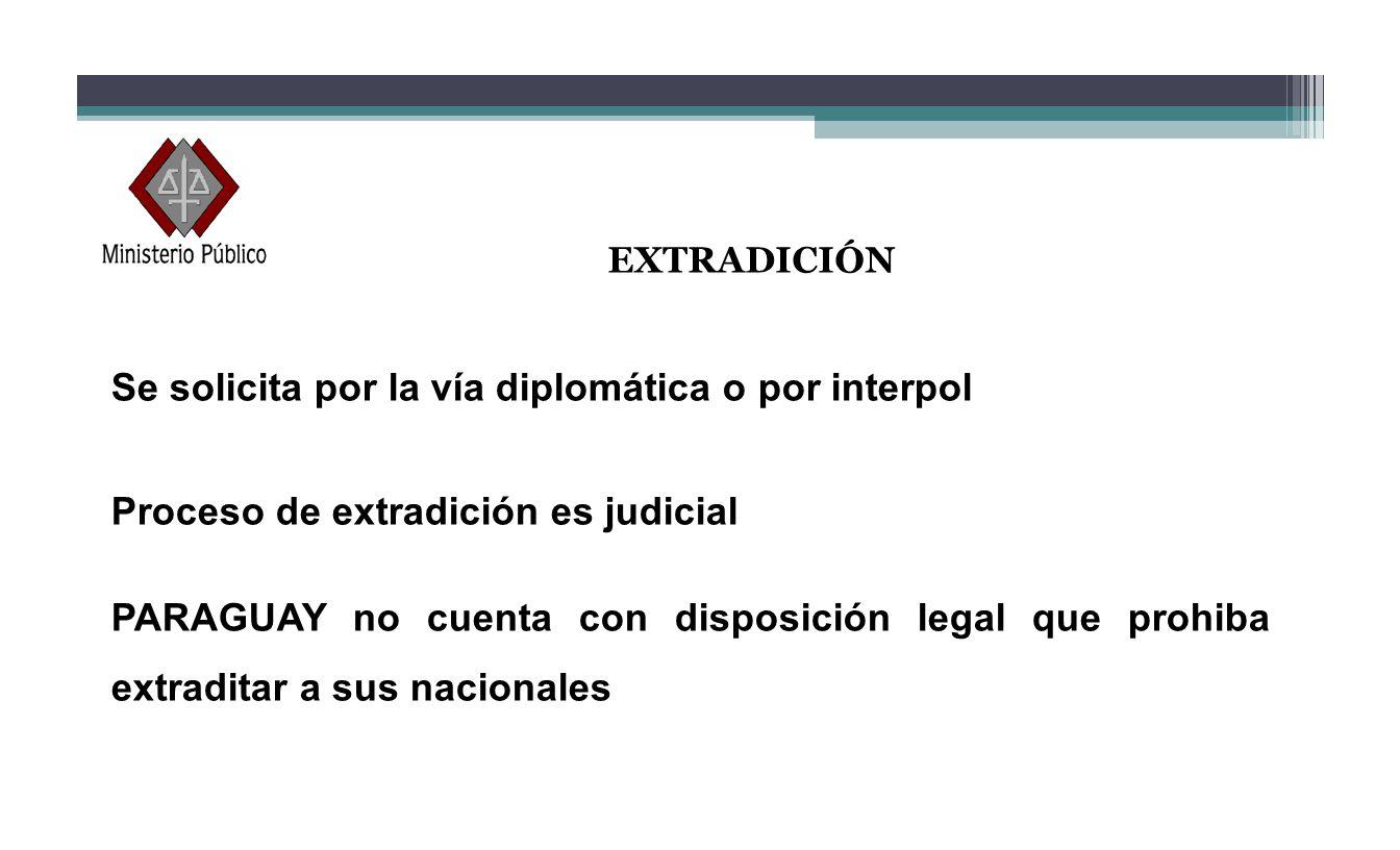 Se solicita por la vía diplomática o por interpol