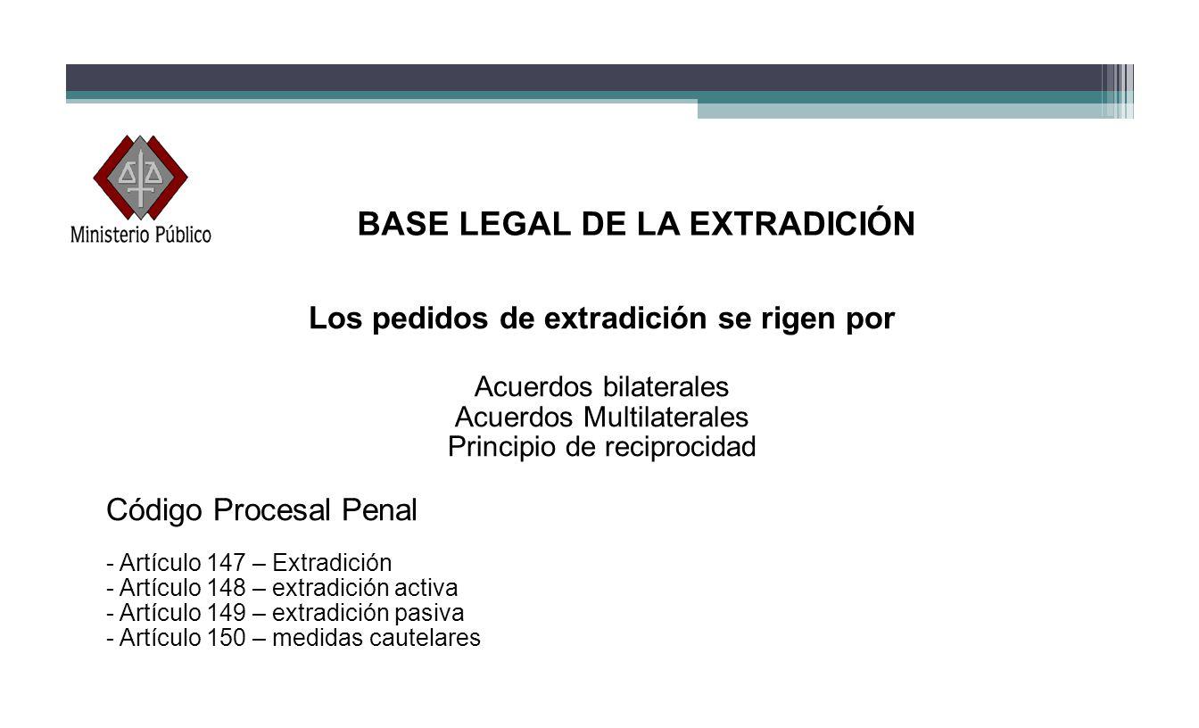 BASE LEGAL DE LA EXTRADICIÓN Los pedidos de extradición se rigen por