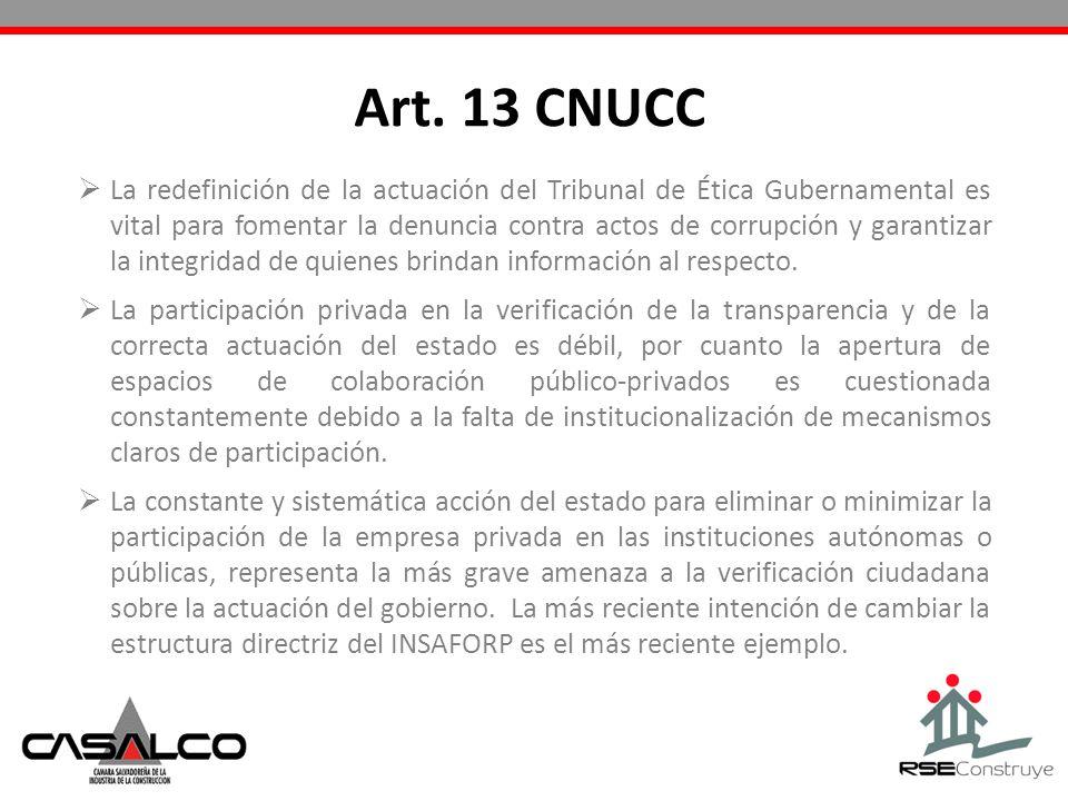 Art. 13 CNUCC