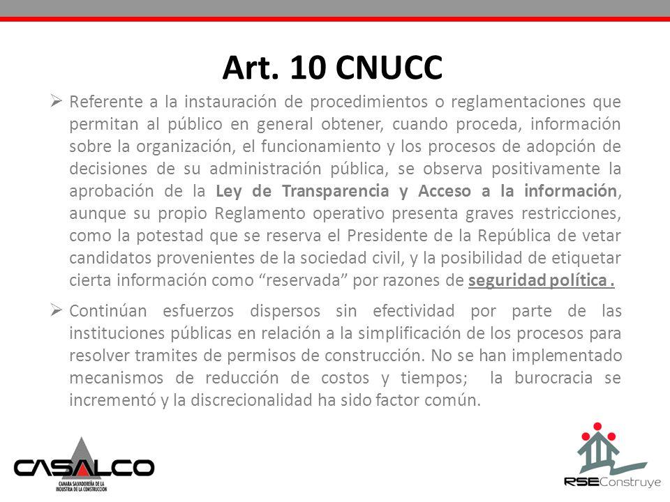 Art. 10 CNUCC