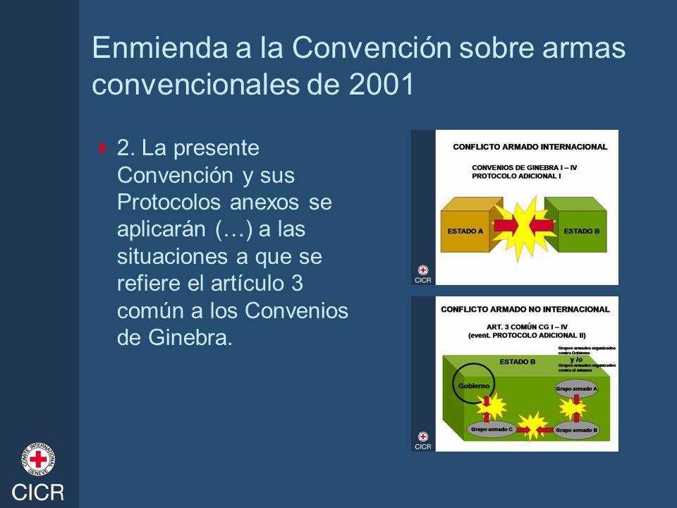 Enmienda a la Convención sobre armas convencionales de 2001