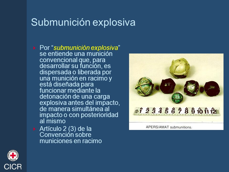 Submunición explosiva