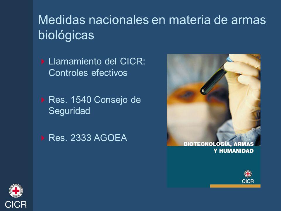 Medidas nacionales en materia de armas biológicas