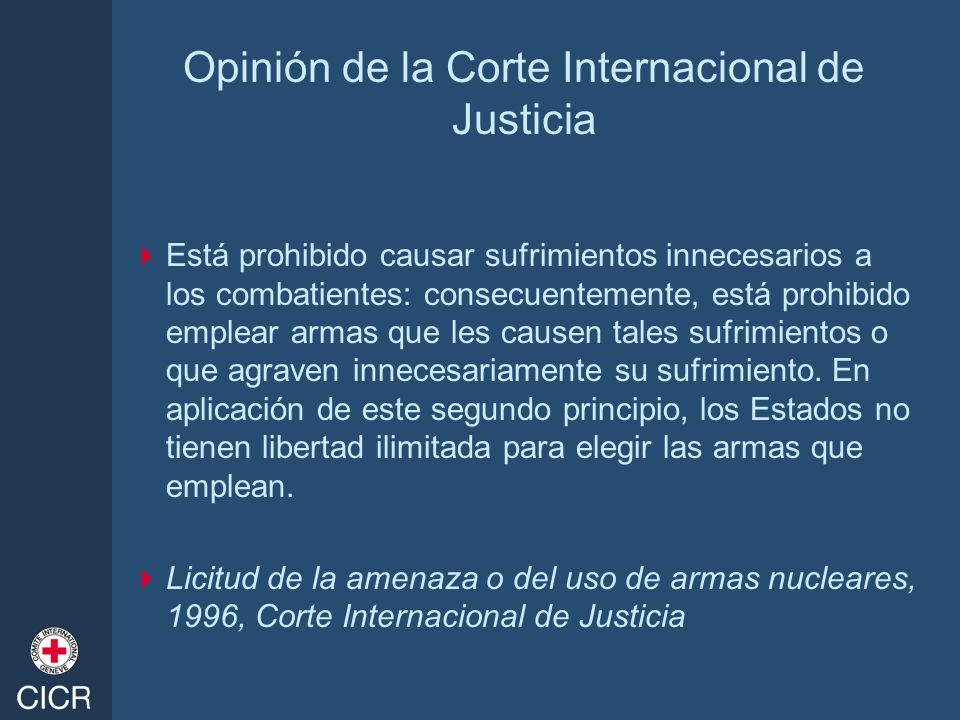 Opinión de la Corte Internacional de Justicia