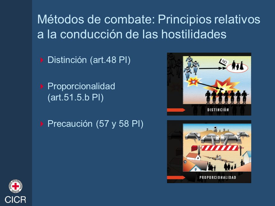 Métodos de combate: Principios relativos a la conducción de las hostilidades