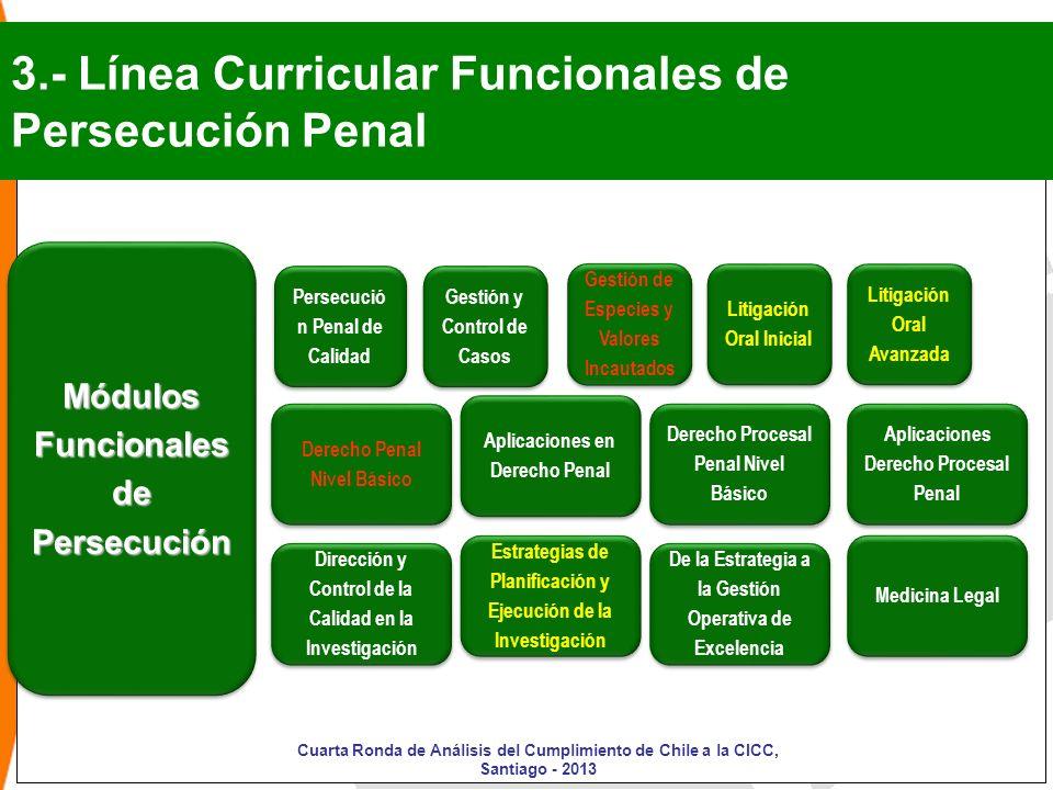 3.- Línea Curricular Funcionales de Persecución Penal
