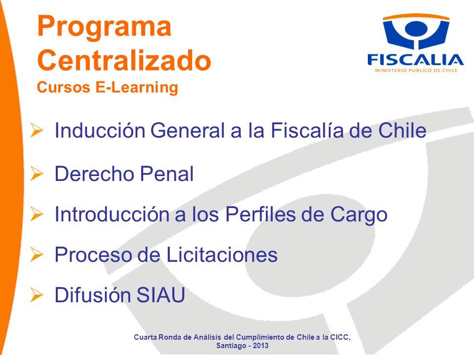 Programa Centralizado Cursos E-Learning