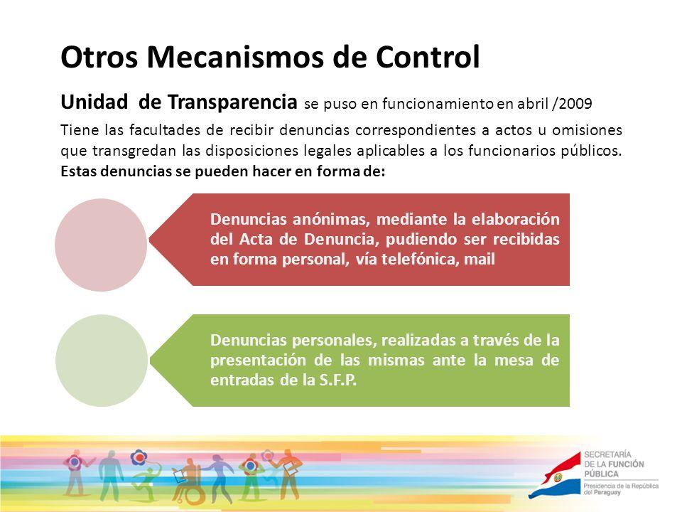 Otros Mecanismos de Control