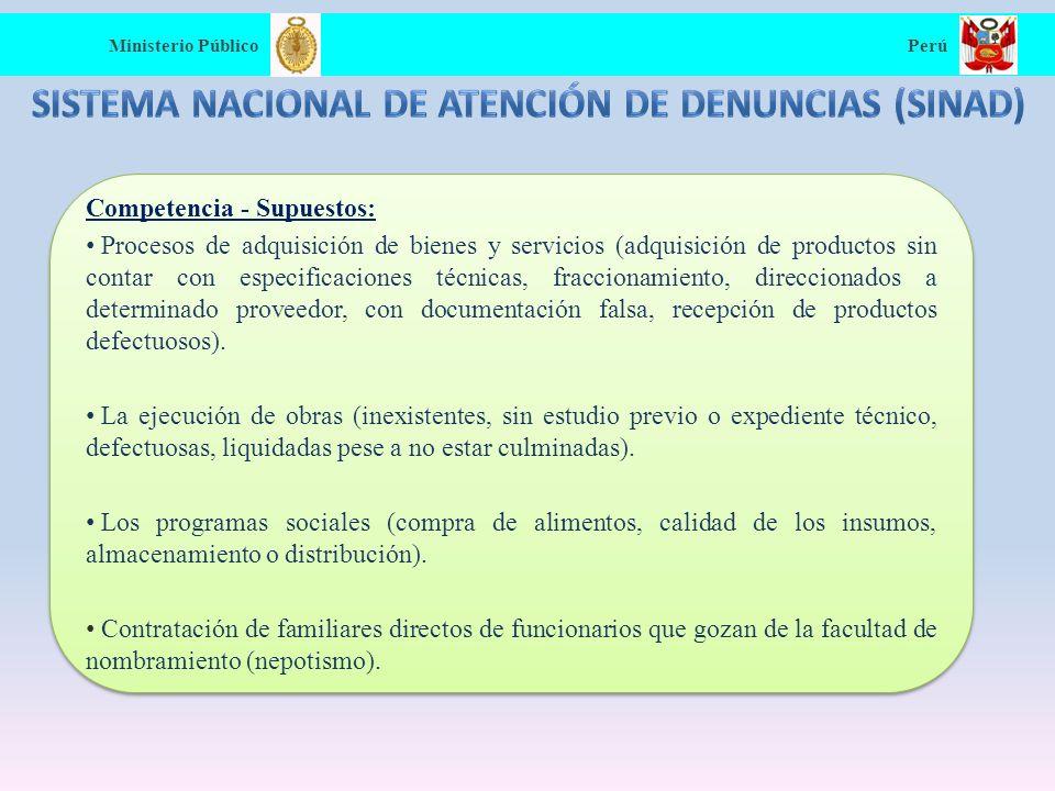 Sistema Nacional de Atención de Denuncias (SINAD)