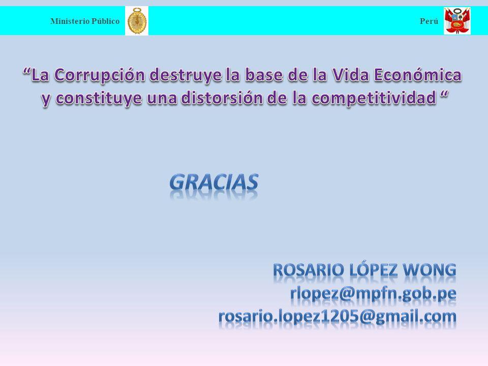 Gracias La Corrupción destruye la base de la Vida Económica