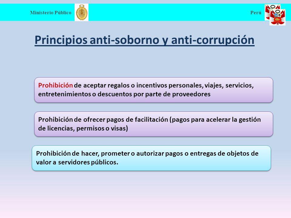 Principios anti-soborno y anti-corrupción