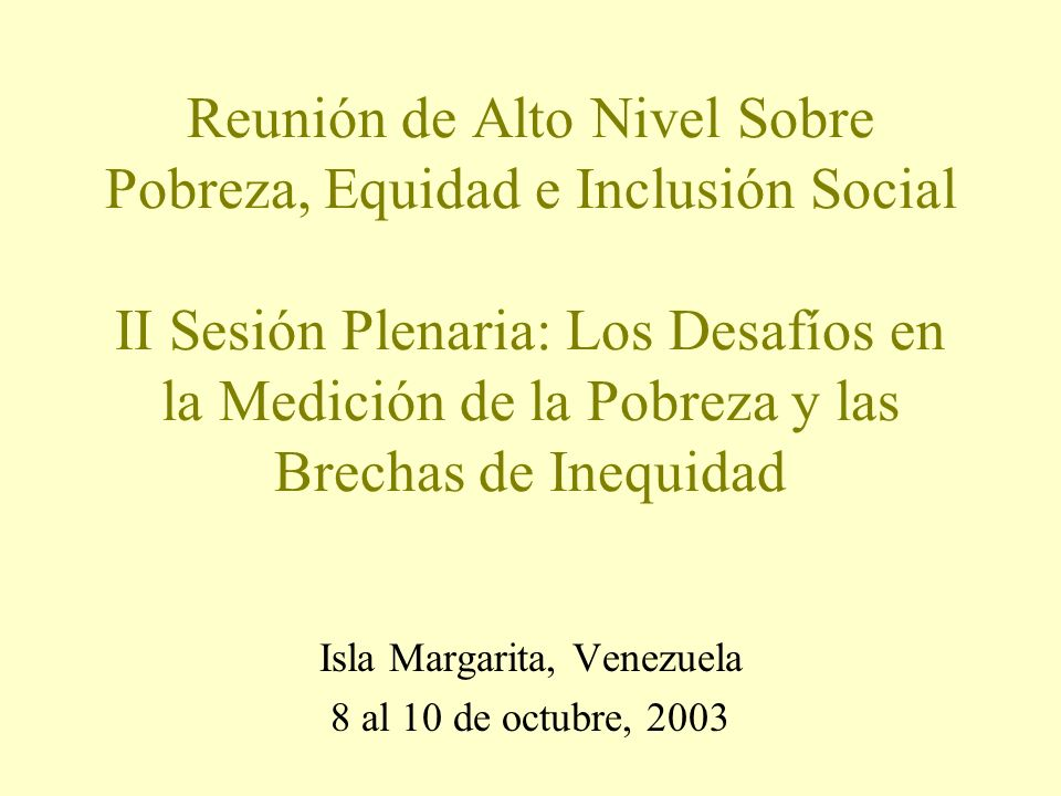 Isla Margarita, Venezuela 8 al 10 de octubre, 2003