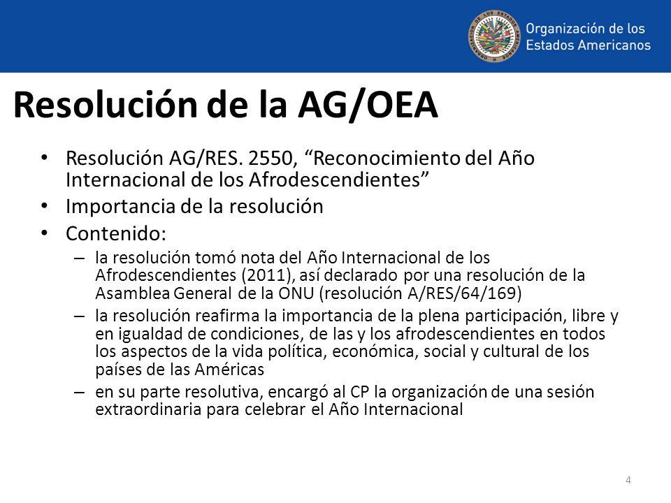 Resolución de la AG/OEA