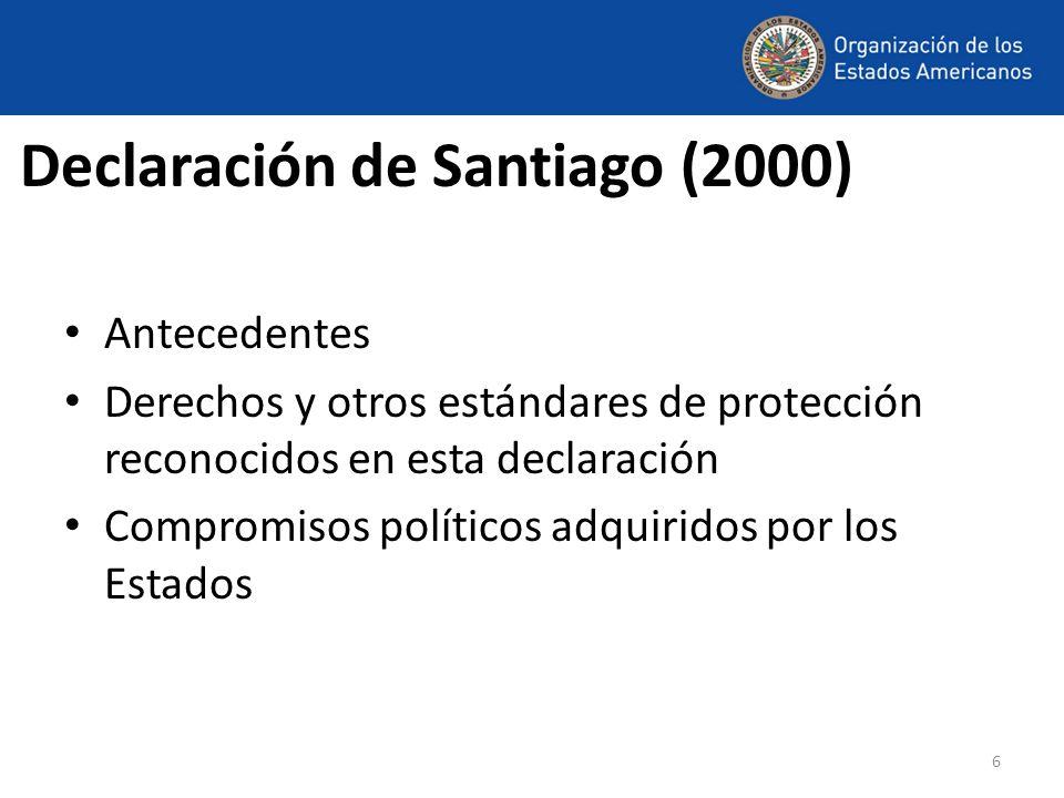 Declaración de Santiago (2000)