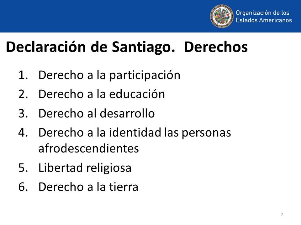 Declaración de Santiago. Derechos