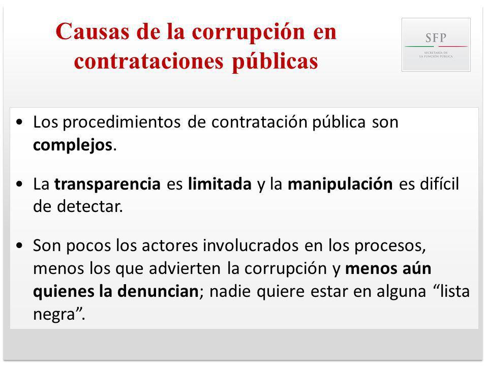 Causas de la corrupción en contrataciones públicas