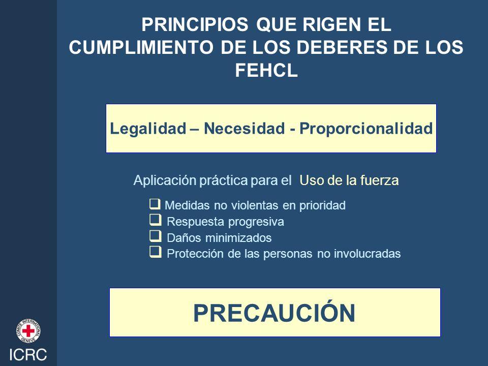 PRINCIPIOS QUE RIGEN EL CUMPLIMIENTO DE LOS DEBERES DE LOS FEHCL
