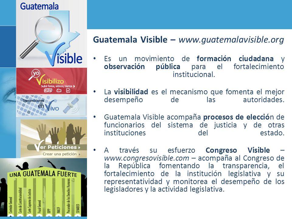 Guatemala Visible – www.guatemalavisible.org