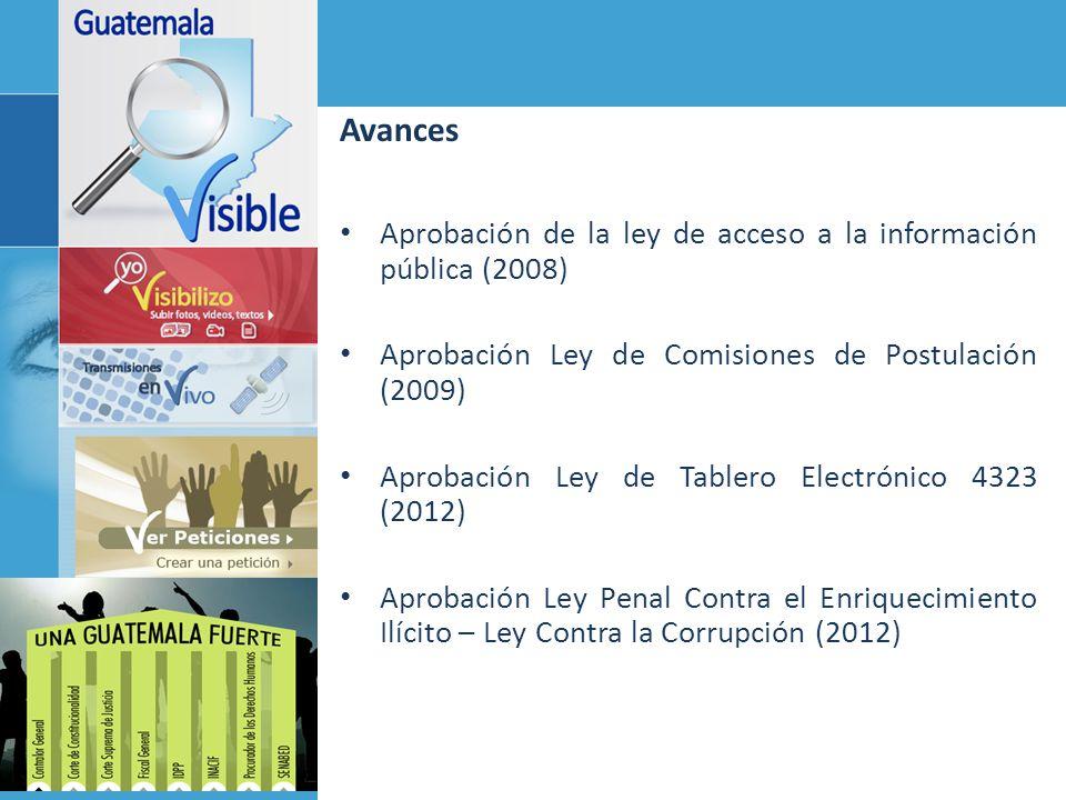 Avances Aprobación de la ley de acceso a la información pública (2008)