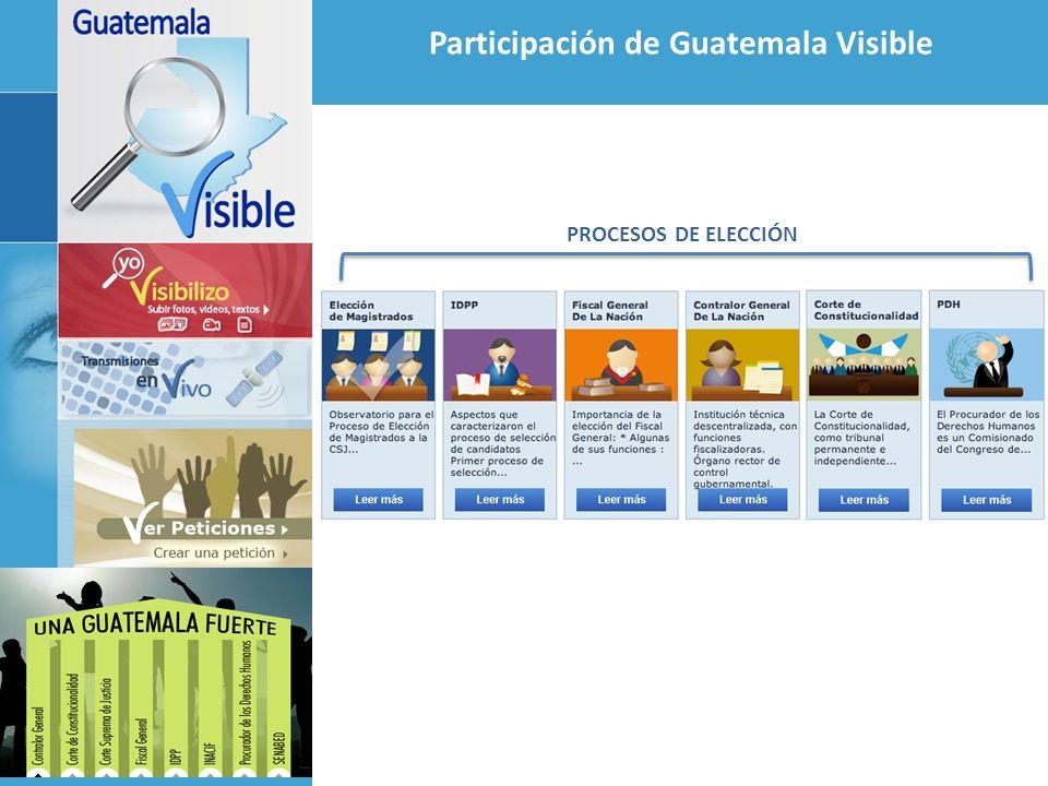 Participación de Guatemala Visible