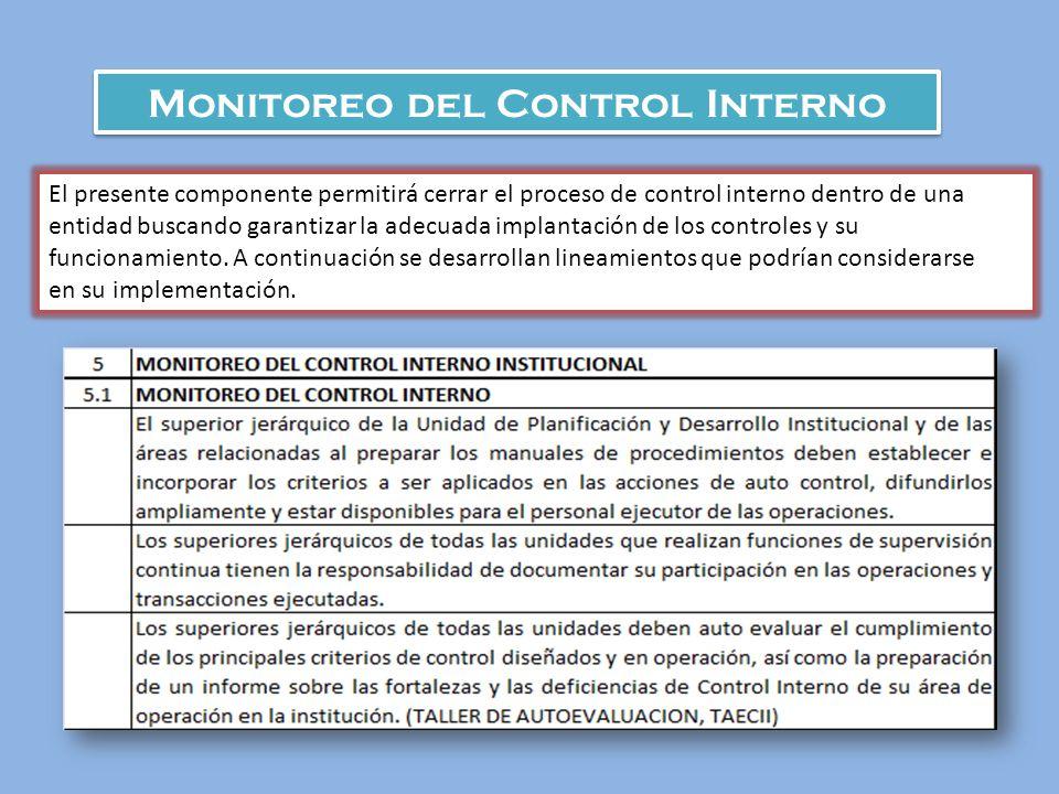 Monitoreo del Control Interno