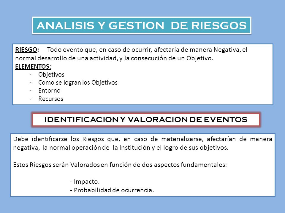ANALISIS Y GESTION DE RIESGOS