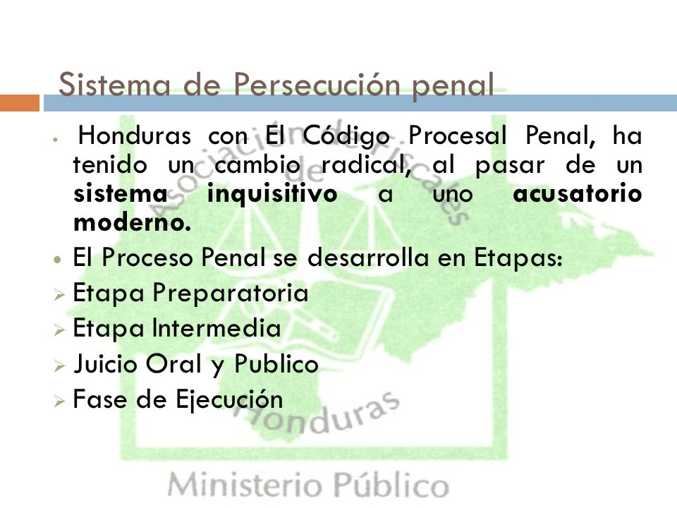 Sistema de Persecución penal