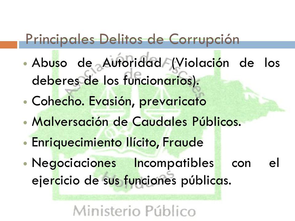 Principales Delitos de Corrupción