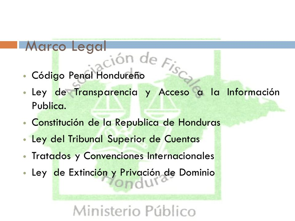 Marco Legal Código Penal Hondureño