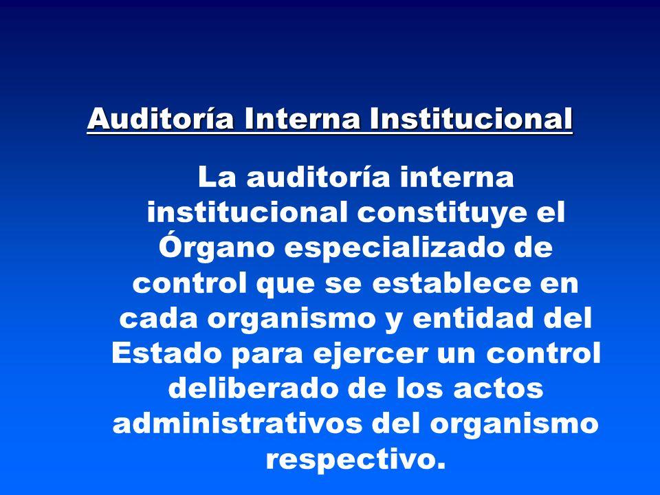 Auditoría Interna Institucional