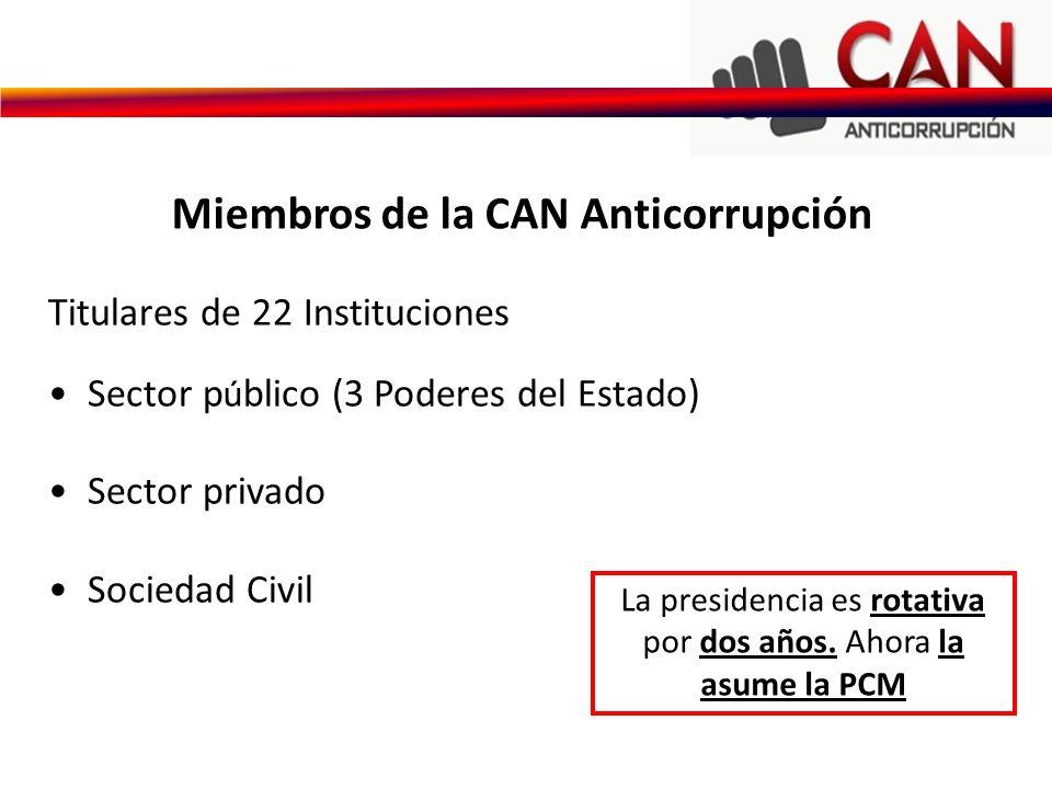 Miembros de la CAN Anticorrupción