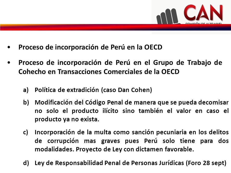 Proceso de incorporación de Perú en la OECD