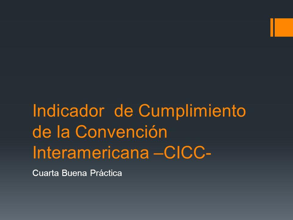Indicador de Cumplimiento de la Convención Interamericana –CICC-
