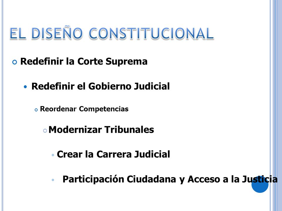 EL DISEÑO CONSTITUCIONAL