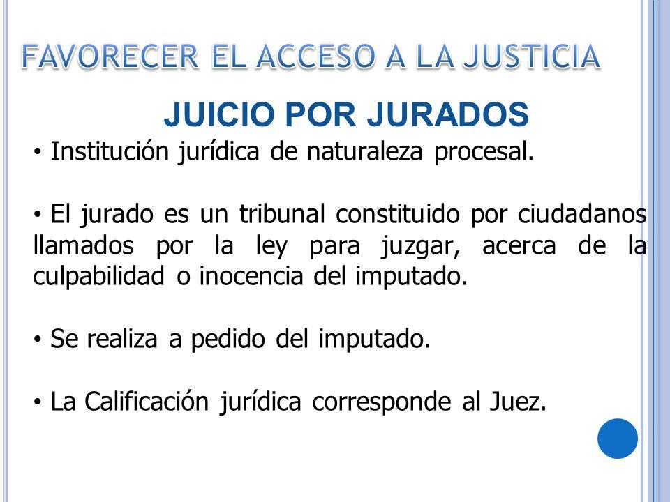 FAVORECER EL ACCESO A LA JUSTICIA