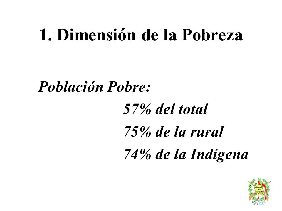 1. Dimensión de la Pobreza
