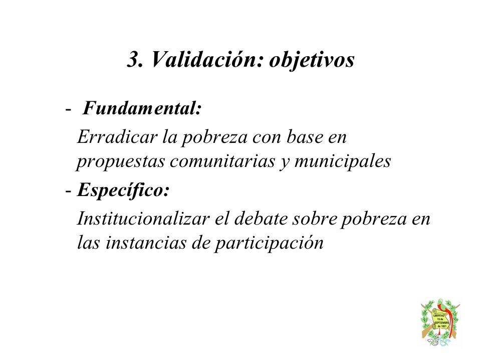 3. Validación: objetivos