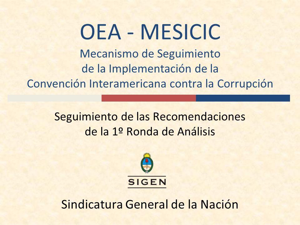 OEA - MESICIC Mecanismo de Seguimiento de la Implementación de la Convención Interamericana contra la Corrupción