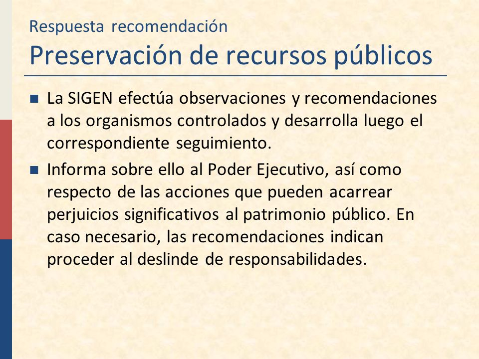 Respuesta recomendación Preservación de recursos públicos