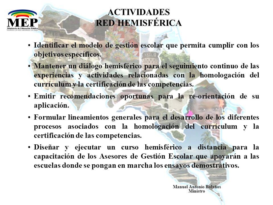 ACTIVIDADES RED HEMISFÉRICA