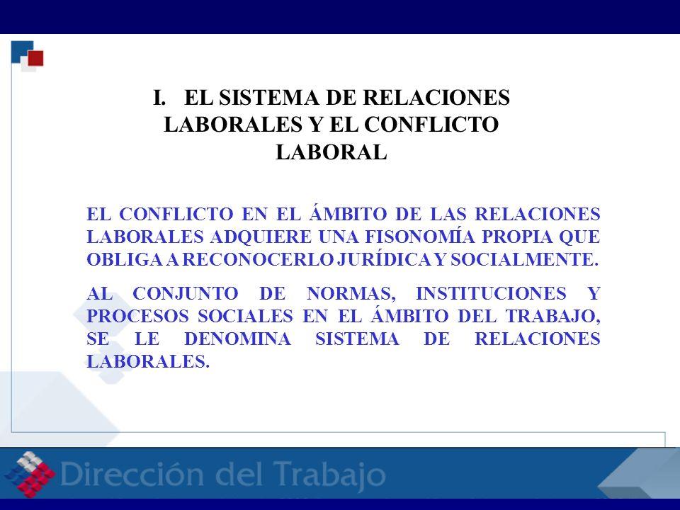 I. EL SISTEMA DE RELACIONES LABORALES Y EL CONFLICTO LABORAL